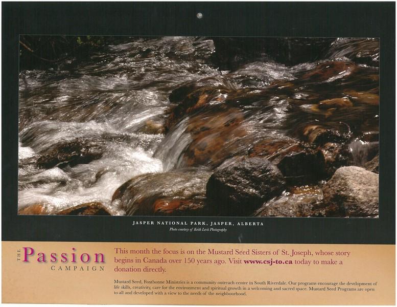 2009 Passion Campaign Calendar April 2009 Jasper Nat. Park, Jasper, Alberta page.jpg