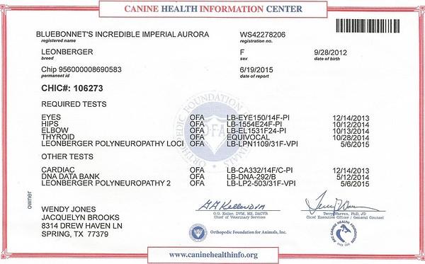 Reba Certificates