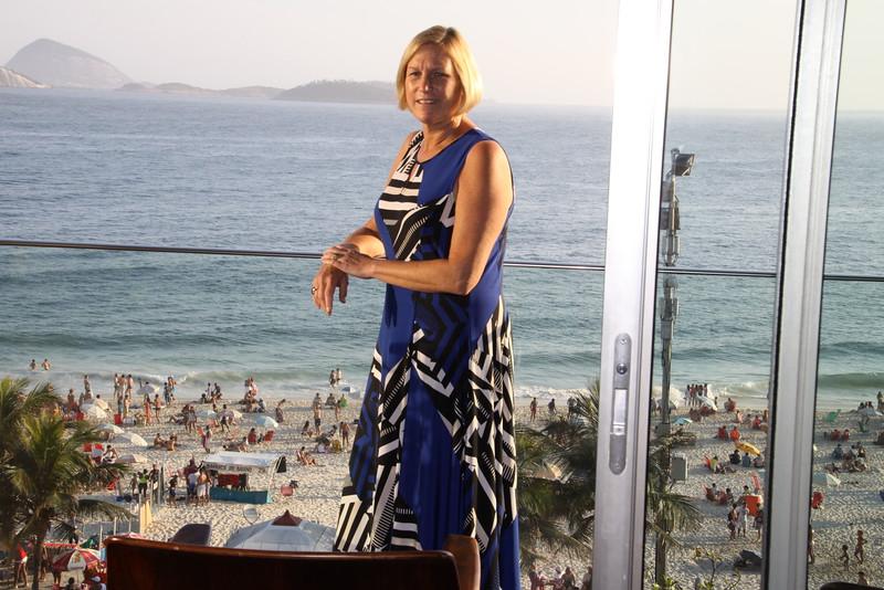Ipanema Beach from our hotel balcony
