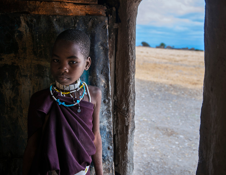 Young Masai girl.  Tanzania, 2019.
