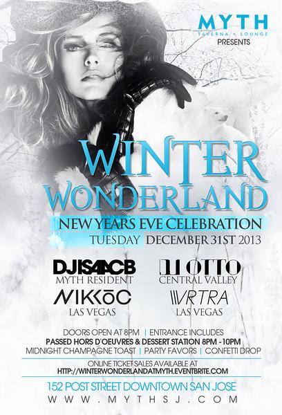 Winter Wonderland @ Myth Taverna & Lounge 12.31.13