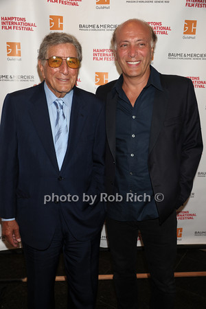 "Tony Bennett and son Danny Bennett attend The HIFF Summerdoc screening of ""The Zen of Bennett""  at Guild Hall iin East Hampton. (August 13, 2012)