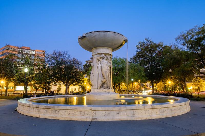 Dupont Circle at twilight