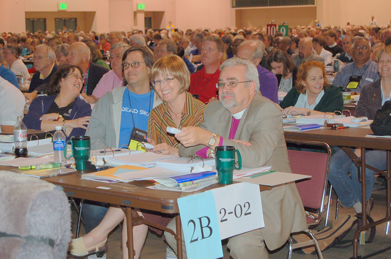 The delegation from the Southwest California Synod vote on the social statement.