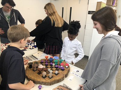 KTK The Friendship of Chess - US Honors Art Students Share Their Chess Boards With 4th Graders