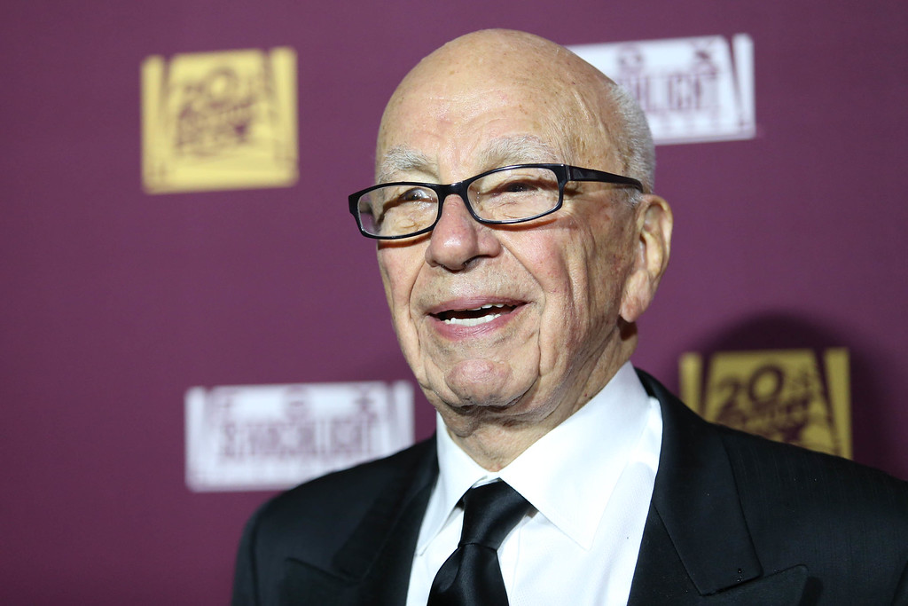. Rupert Murdoch attends the 87th Academy Awards - 21st Century Fox and Fox Searchlight Oscar Party at BOA Steakhouse on Sunday, Feb. 22, 2015 in West Hollywood, Calif. (Photo by Omar Vega/Invision/AP)