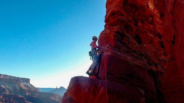 Climbing around Moab