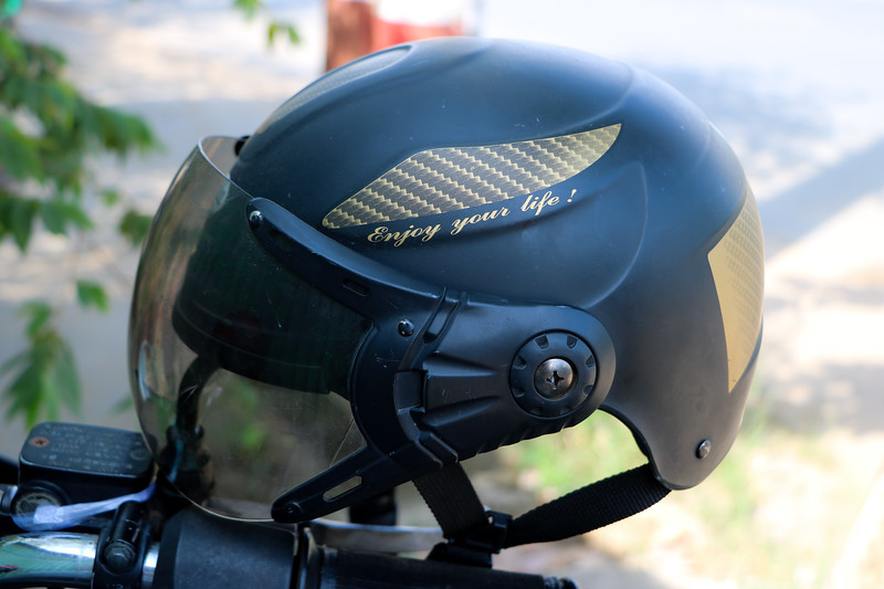 The helmet I was wearing on my 4 day motorcycle tour
