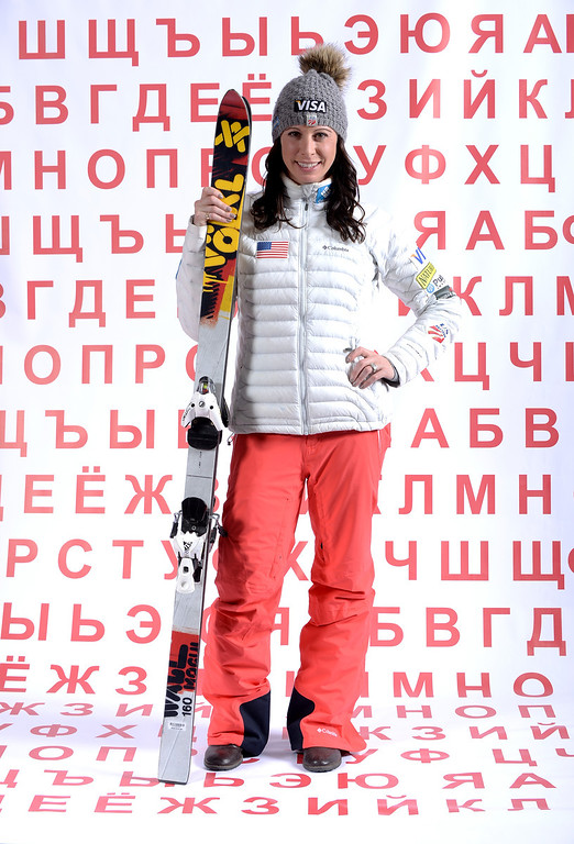 . Freestyle skier Emily Cook poses for a portrait during the USOC Media Summit ahead of the Sochi 2014 Winter Olympics on September 29, 2013 in Park City, Utah.  (Photo by Harry How/Getty Images)