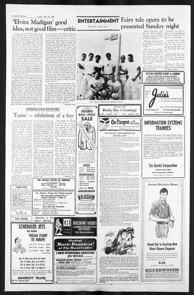 Daily Trojan, Vol. 59, No. 108, April 19, 1968