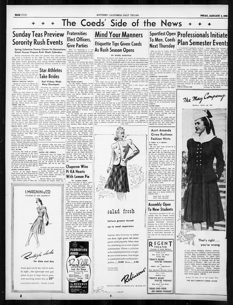 Daily Trojan, Vol. 31, No. 81, February 09, 1940