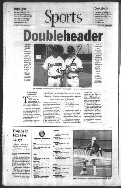 Daily Trojan, Vol. 142, No. 52, April 05, 2001