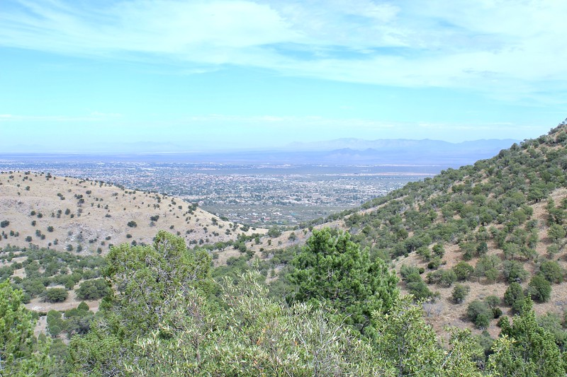 Looking down at Sierra Vista from Carr Canyon Road (2019)