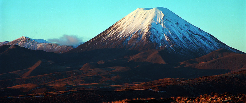 Mt Ngauruhoe in New Zealand's central North Island is famous for the Role played as Mount Doom in Lord of the Rings
