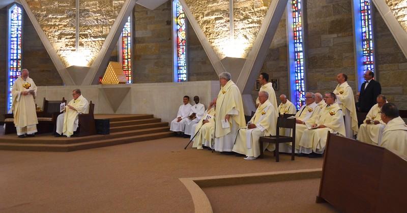 Fr. Ed highlights the jubilarians
