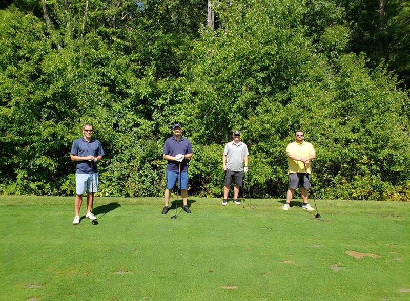 From left, Joe Morasse of Nashua, N.H., Jason Jaskal of Tyngsboro, and Matt Stone and Dan Moriarty both of Dracut