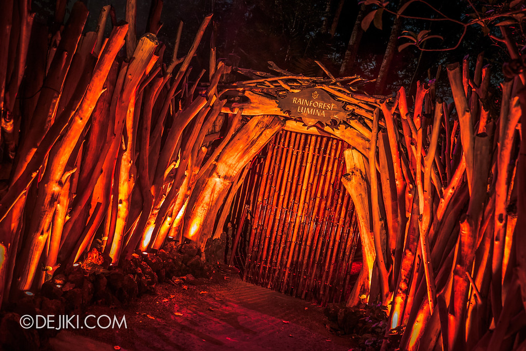 Singapore Zoo Rainforest Lumina - Light Huts 3 dead end