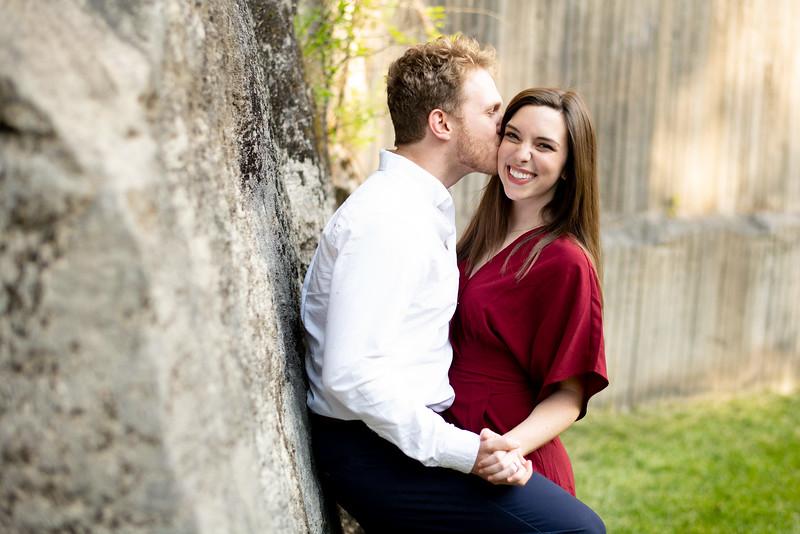 Kiss on Quarry Wall