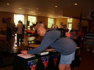 Ida signing up for KIA walk