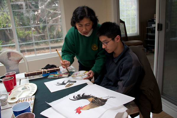 My Chinese Painting lesson with Ms. Chou on 11/11/2011