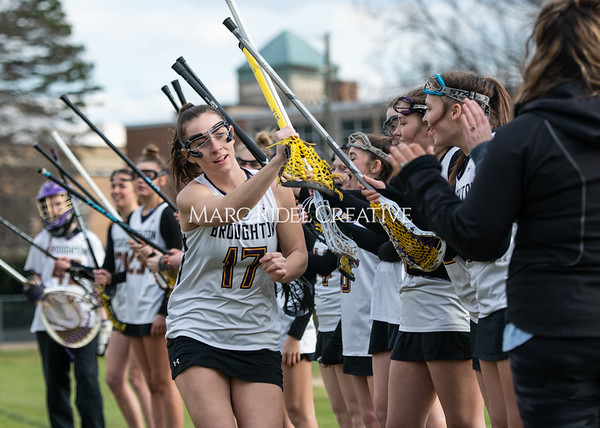Broughton girls varsity lacrosse vs Middle Creek. February 28, 2020. MRC_5455