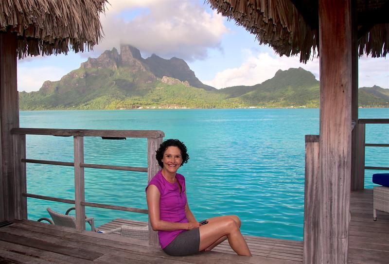 Me, in my HAPPY place! - Bungalow 227 - St. Regis Resort - Bora Bora