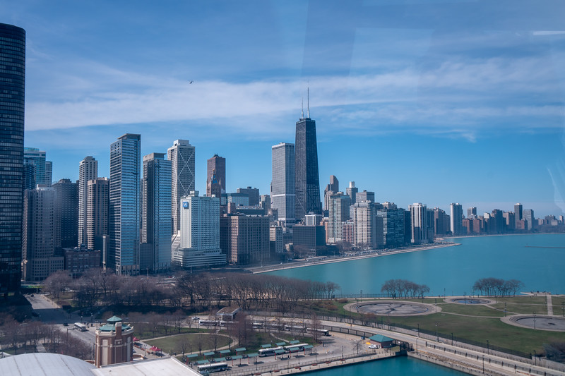 The view from the Navy Pier Ferris wheel