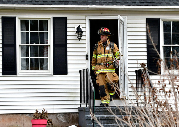 1/31/2020 Mike Orazzi | StaffrPlainville firefighters on scene after a power surge caused electrical problems in several home in the Pequot Road section on Friday afternoon.