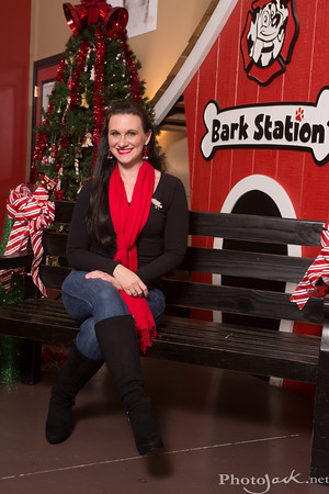 2014 Santa at Bark Station for Mostly Mutts