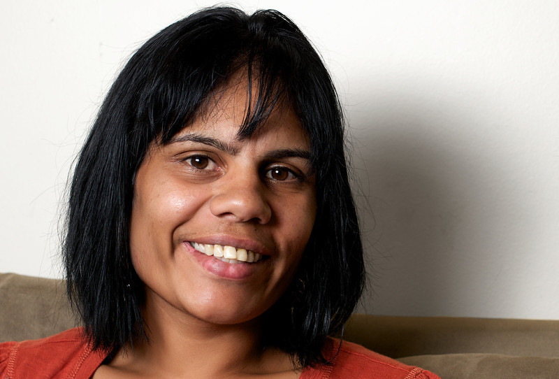 Indigenous Australian Woman with a Beautiful Smile