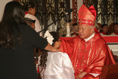 Confirmation 5-31 Candidate with Bishop Camacho