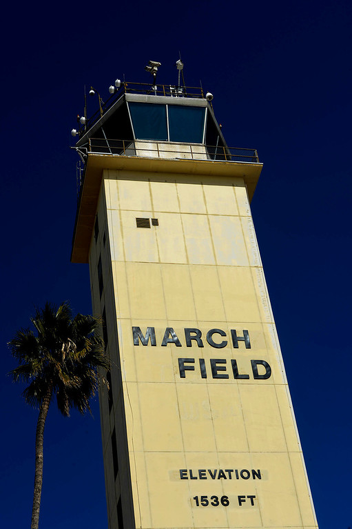 . A view of the current Control Tower/ Base Ops center at March Air Reserve Base in Riverside March  6, 2013.   GABRIEL LUIS ACOSTA/STAFF PHOTOGRAPHER.