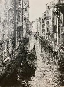 """The phantom of Venice"" (pencil) by Shuning Ma"