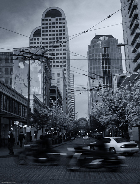 Downtown Seattle - 1st Avenue and Pike Street