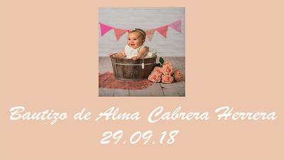Bautizo Alma Cabrera Herrera