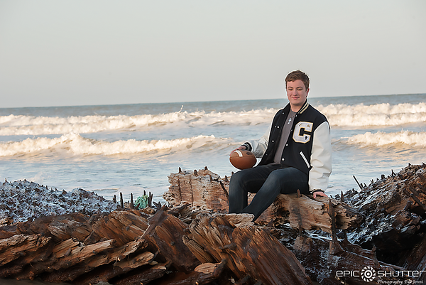 Nate, Rodanthe, North Carolina, Senior Portraits