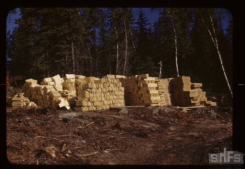 Fish boxes - from PA box factory. Beaver Lake. 06/22/1946