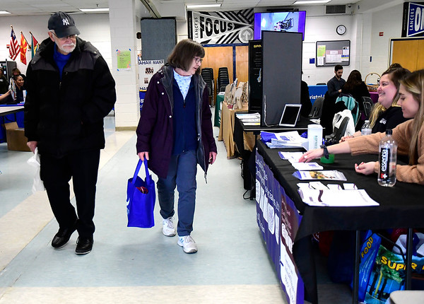 3/7/2020 Mike Orazzi | Staff Keith and Barbara Nielsen during The Central Connecticut Chambers of Commerce's Family Health and Wellness Expo held at Bristol Eastern High School on Saturday.
