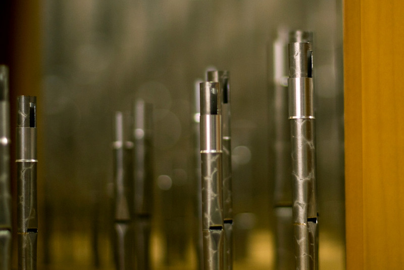"""Teeny - tiny pipes.  These measure about 4"""" tall, and about 1/4"""" diameter."""
