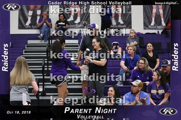 CR Parent Night 2019 - Volleyball