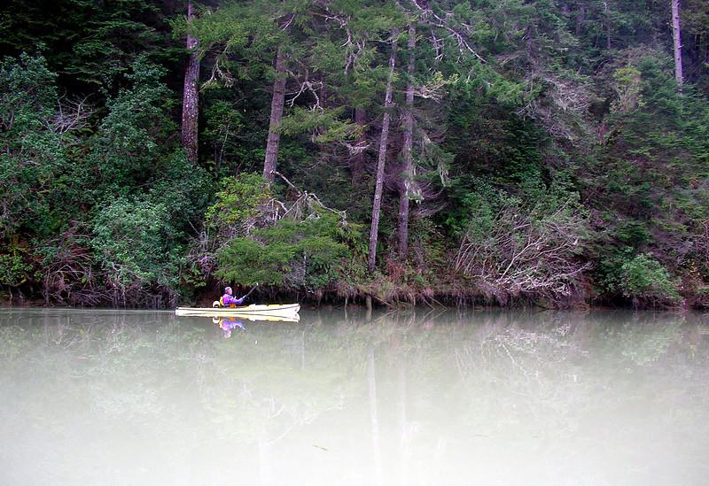Charles Harris paddling the magical Big River