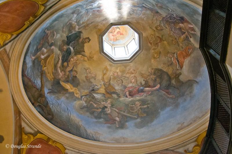 Ceiling art at Prague Castle
