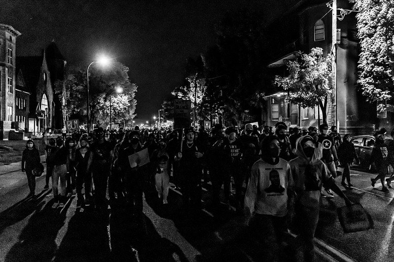 2020 10 07 Chauvin out of jail protest - BW-28.jpg