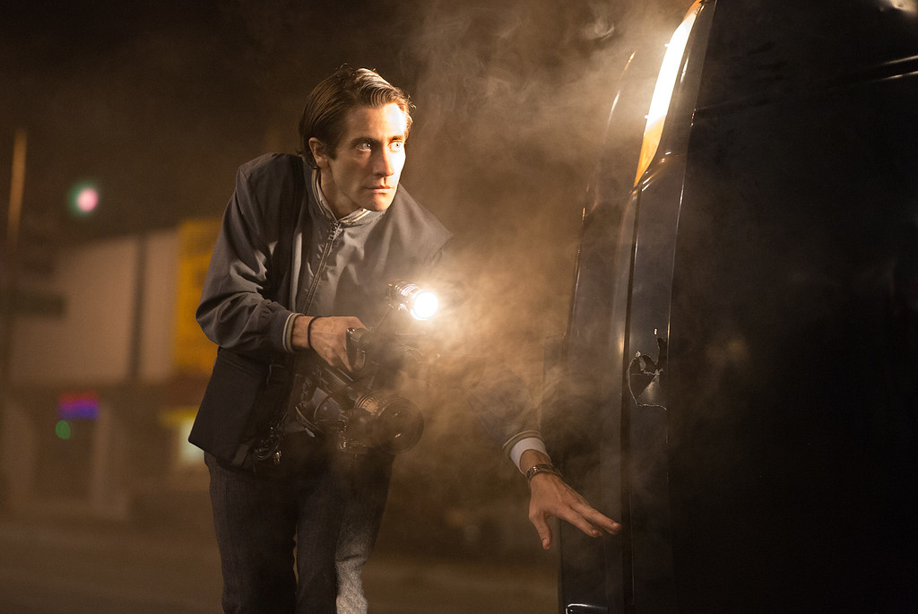 """. This image released by Open Road Films shows Jake Gyllenhaal in a scene from the film, \""""Nightcrawler.\"""" Gyllenhaal was nominated for a Golden Globe for best actor in a drama for his role in the film on Thursday, Dec. 11, 2014. The 72nd annual Golden Globe awards will air on NBC on Sunday, Jan. 11.  (AP Photo/Open Road Films, Chuck Zlotnick)"""