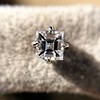 .52ctw Carre Cut Diamond Stud Earrings 6