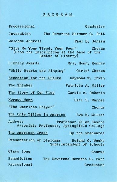 Granville Schools Graduation, 1957, page 2