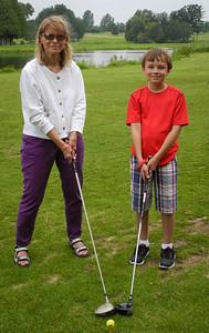 Grandma and me golfing.