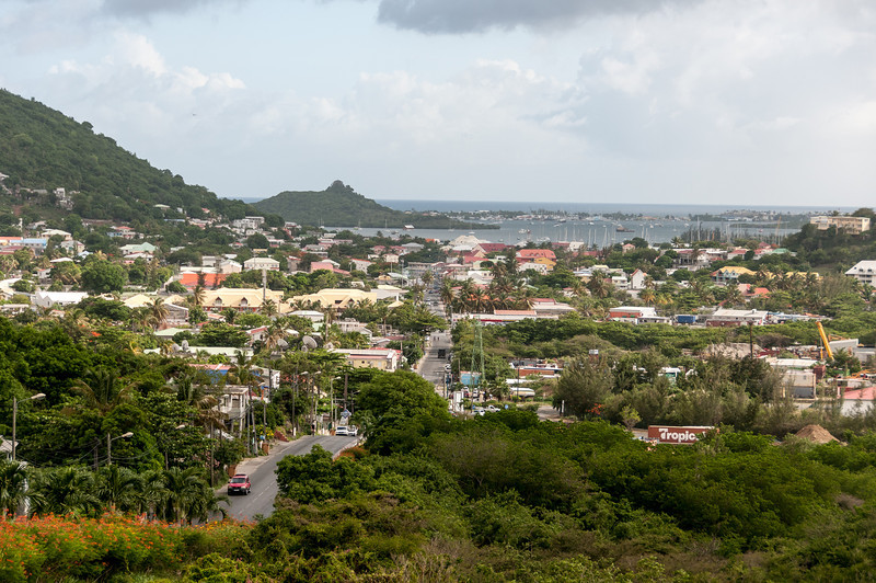 Overlooking view of the island of St. Martin