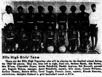 George Ellis High School Basketball Teams 1965