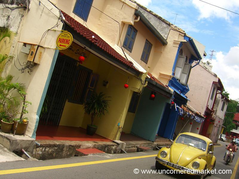 Yellow Beetle Car - Melaka, Malaysia